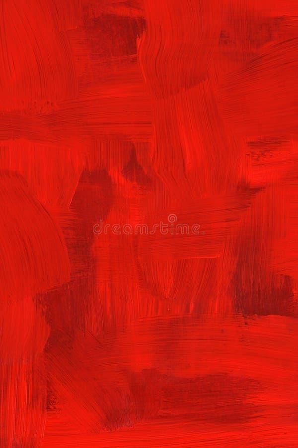 抽象绯红色油画 皇族释放例证