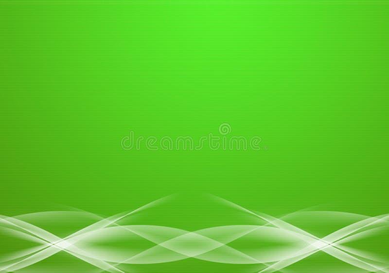 抽象绿线 皇族释放例证