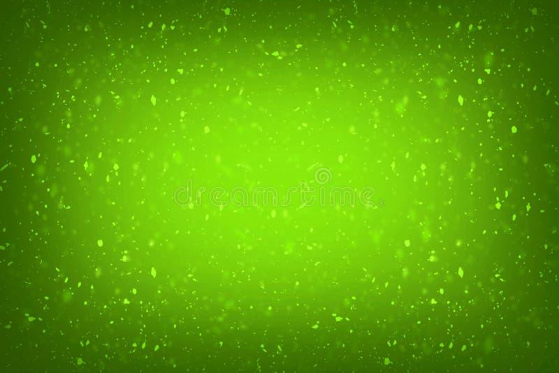 抽象绿色与典雅的古色古香的油漆的背景绿色豪华富有的葡萄酒难看的东西背景纹理设计在墙壁illust 向量例证