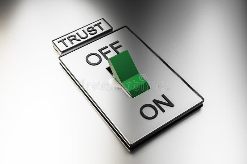 抽象绿色信任开关 向量例证