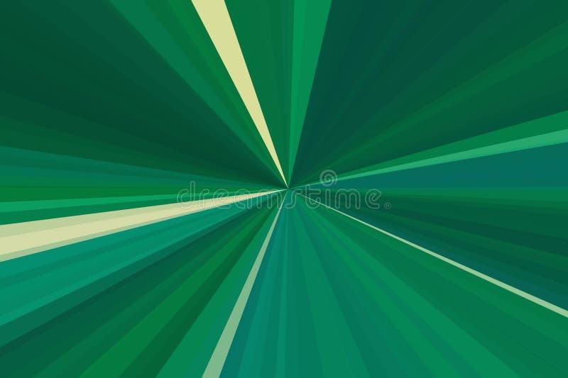 抽象绿色光芒背景 r r 向量例证