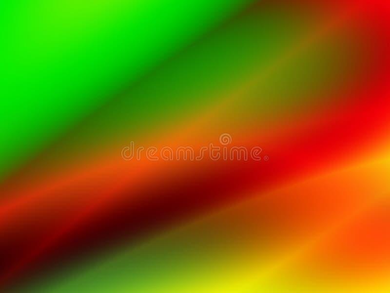 抽象绿色和红灯 皇族释放例证
