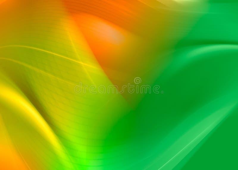 抽象绿色桔子 向量例证