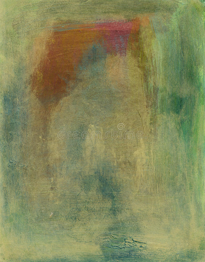 抽象绿色橙色粉红色 向量例证