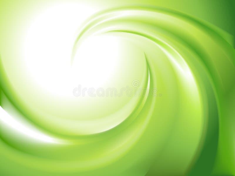 抽象绿色漩涡 向量例证
