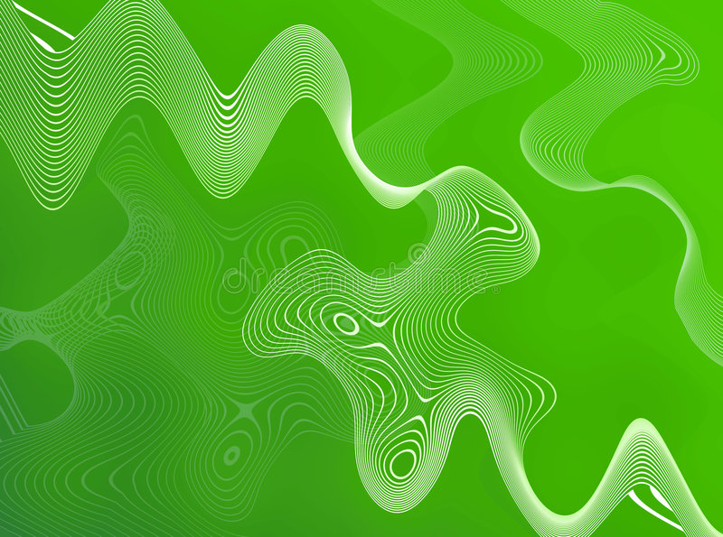 抽象绿色电汇 向量例证