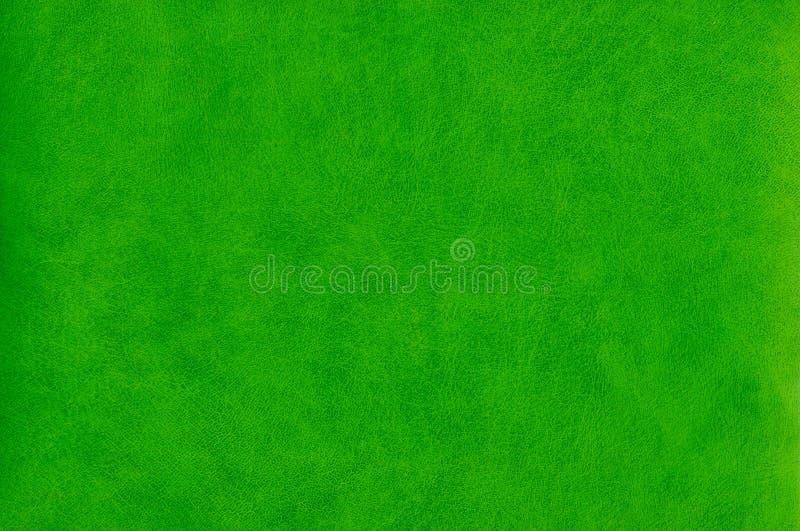 抽象绿色皮革纹理 库存照片