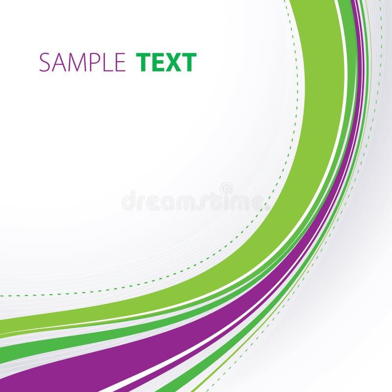抽象绿色紫罗兰色通知 皇族释放例证