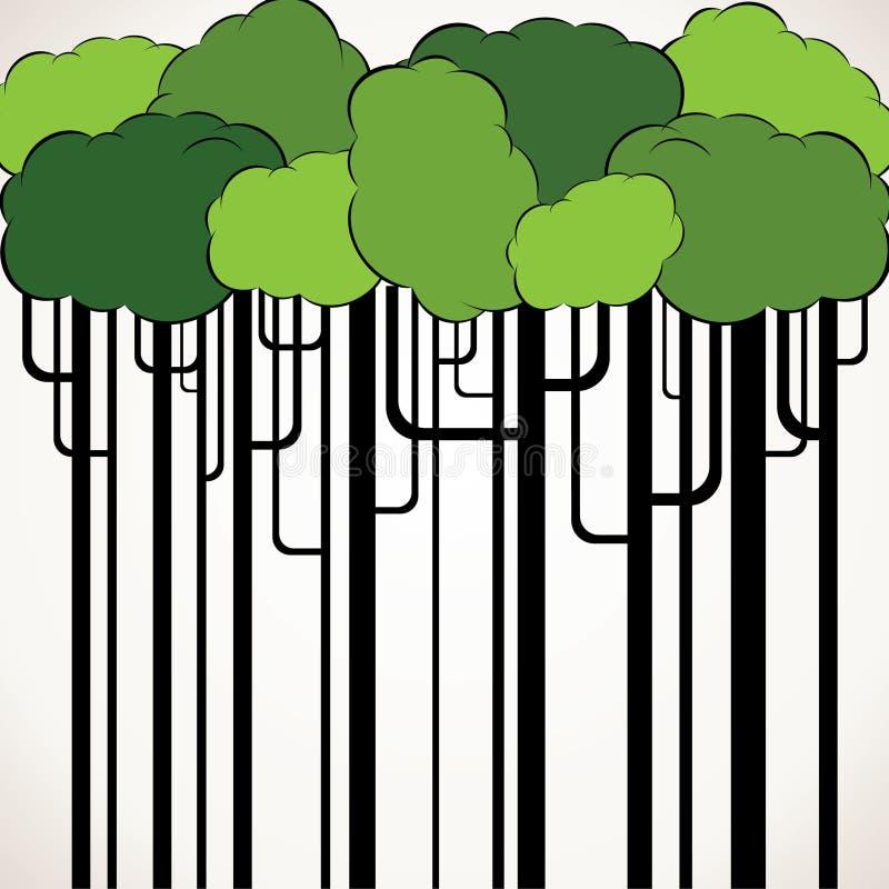 抽象绿色结构树背景 库存例证