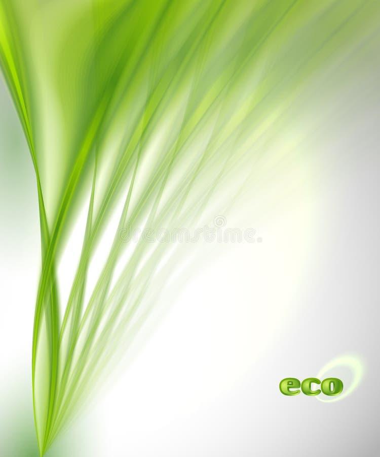 抽象绿色背景 库存例证
