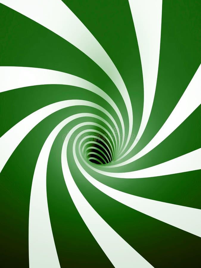 抽象绿色螺旋 向量例证