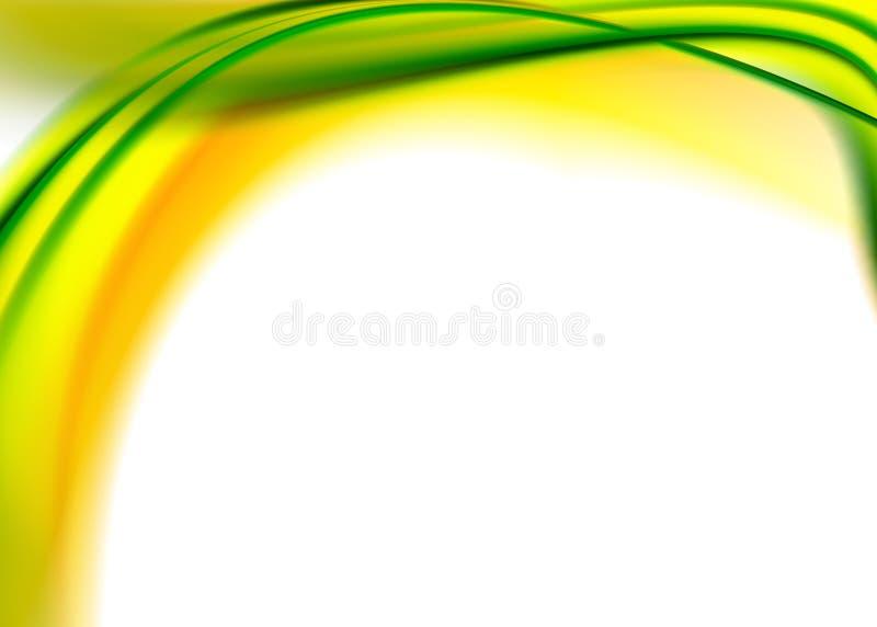 抽象绿色黄色 皇族释放例证