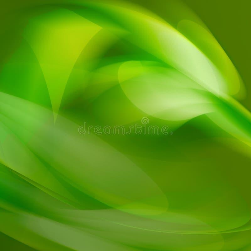 抽象绿色 库存例证