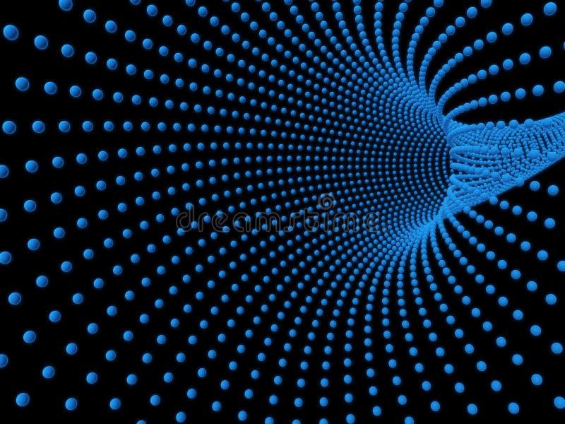 抽象网格隧道 皇族释放例证