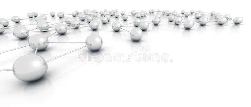 抽象网络 向量例证
