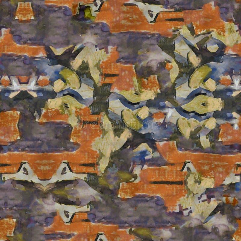 抽象美丽如画的样式 水彩 手工制造优质 免版税库存图片