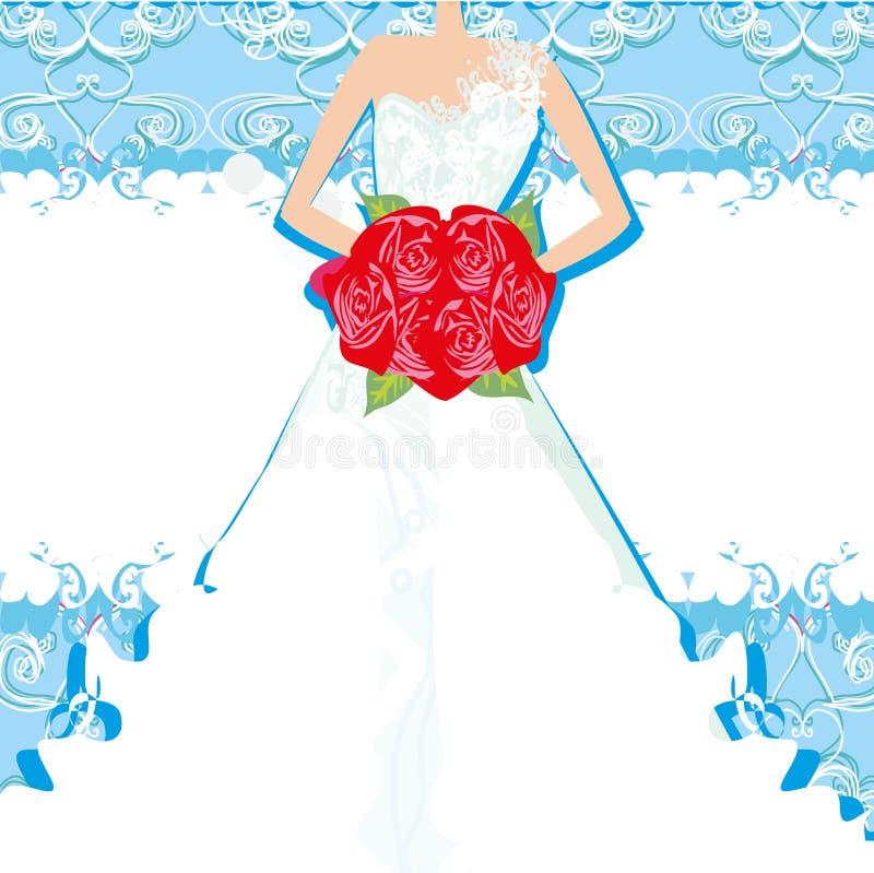 抽象美丽的新娘卡片 皇族释放例证