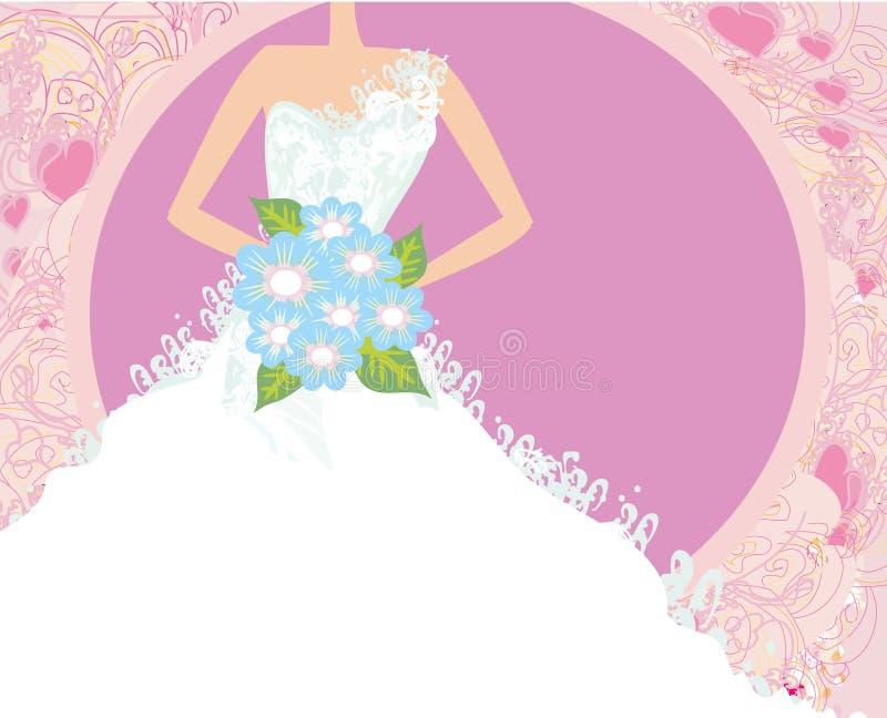 抽象美丽的新娘卡片 库存例证