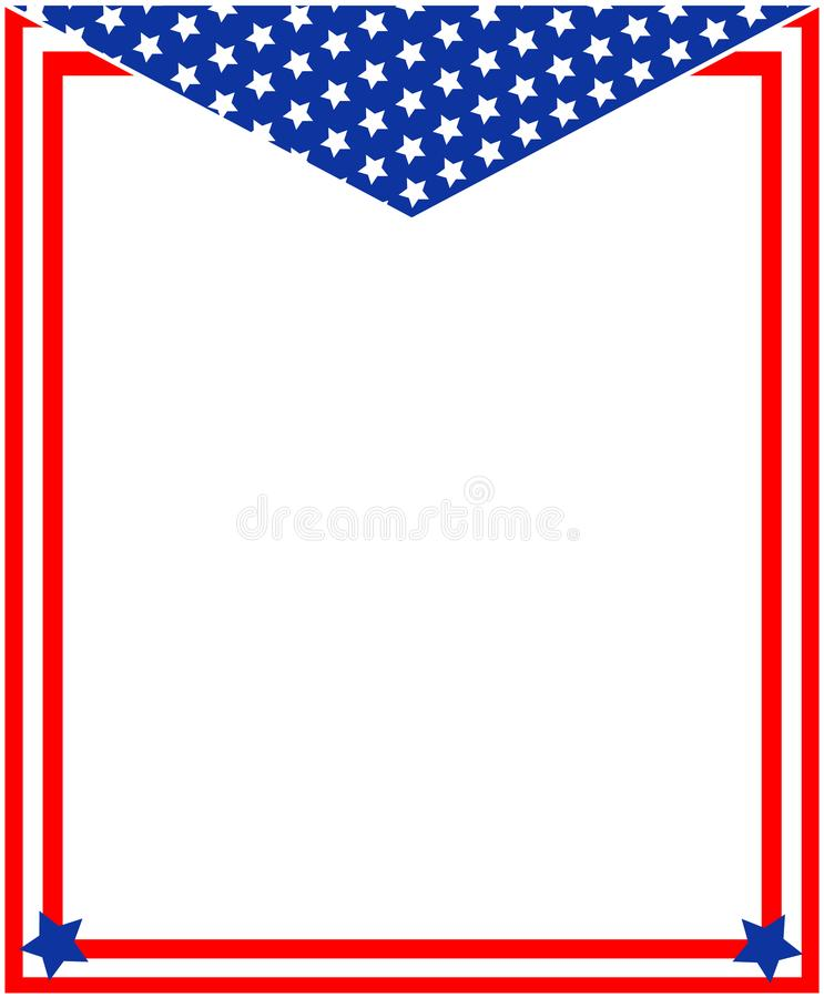 抽象美国国旗爱国框架 库存例证