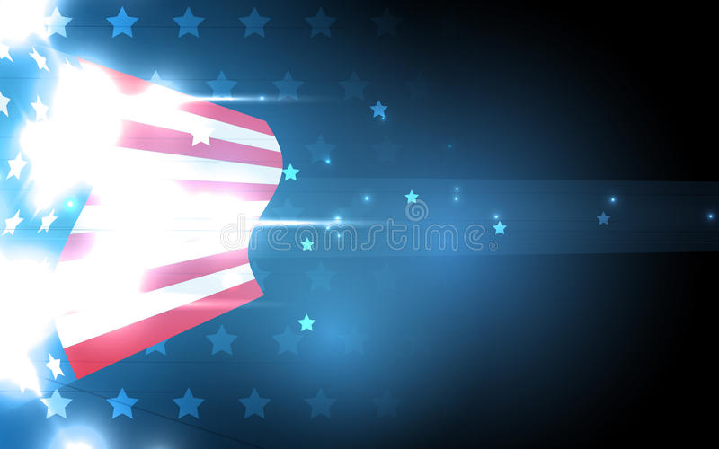 抽象美国国旗的例证美国独立日的 fla 库存例证