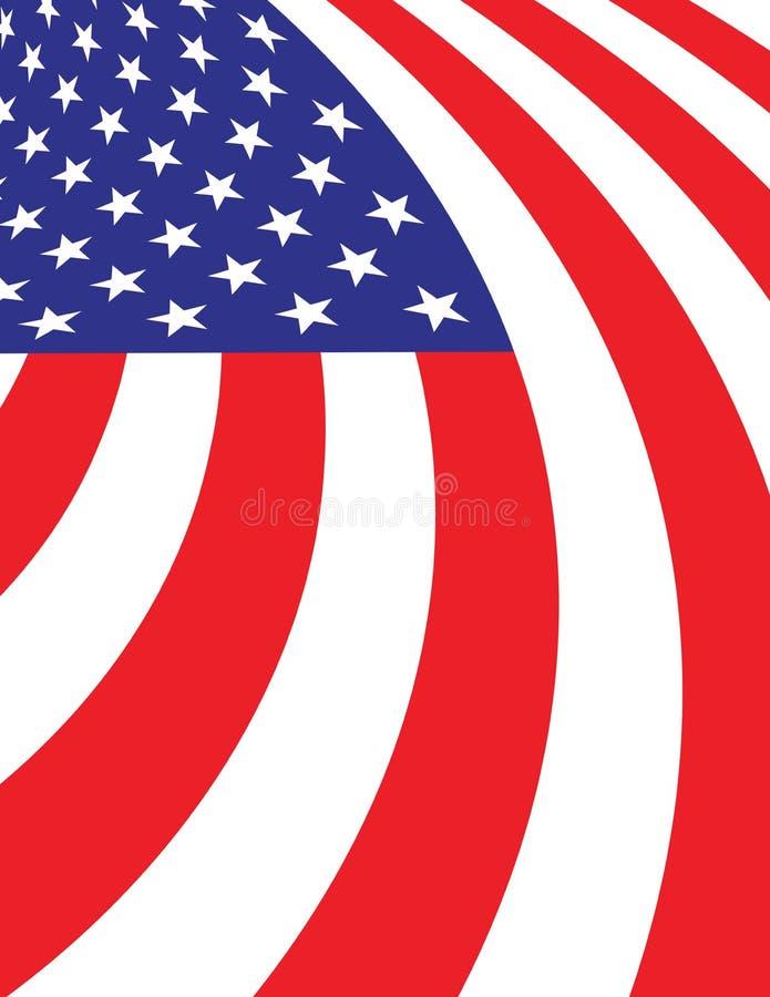 抽象美国国旗背景例证 皇族释放例证