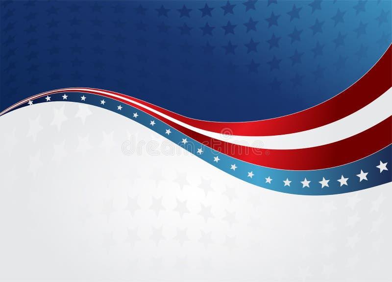 抽象美国国旗 库存例证