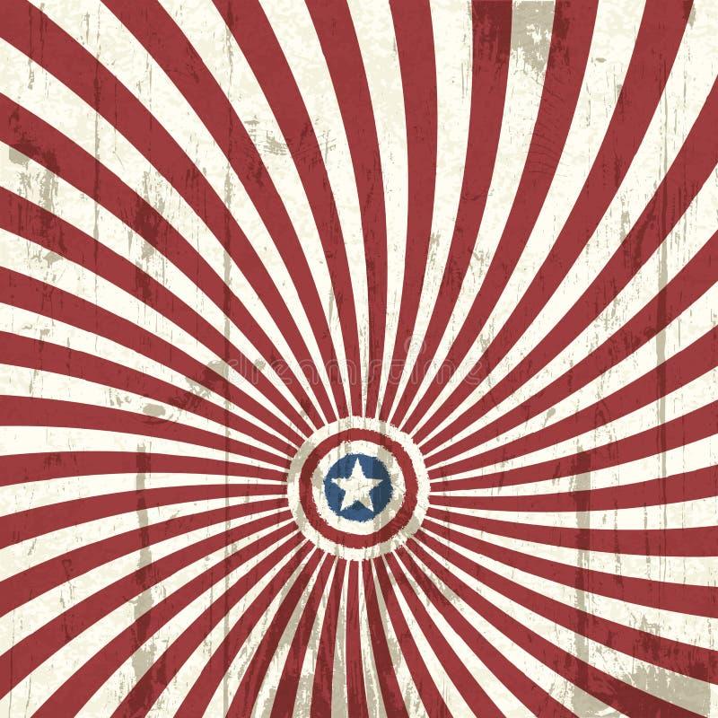 抽象美国背景要素标志 皇族释放例证