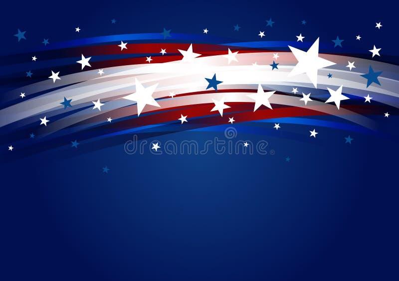 抽象美国背景设计线梯度和星7月独立日传染媒介例证第4  皇族释放例证