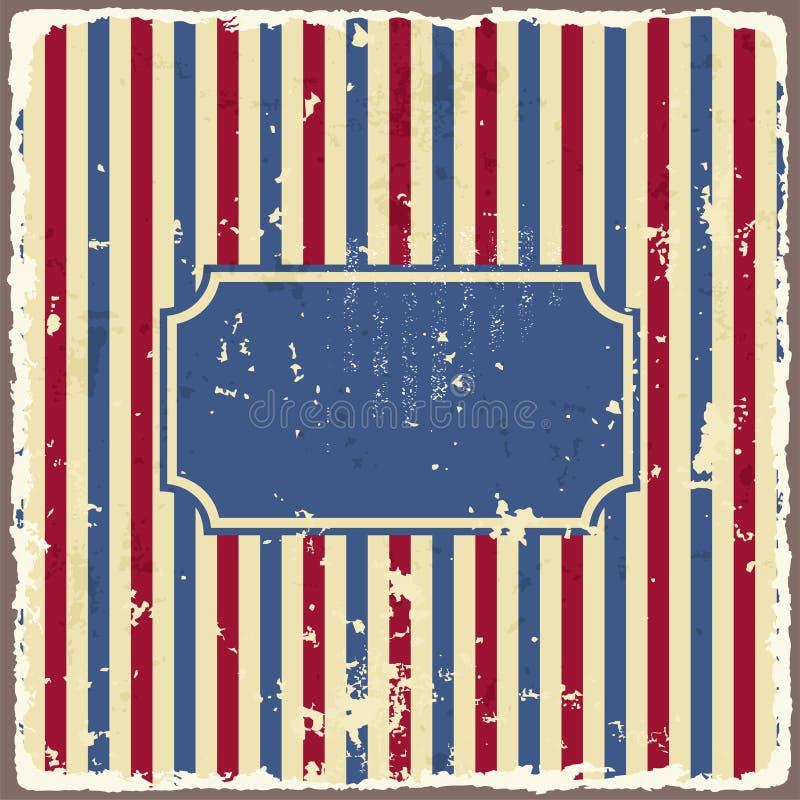 抽象美国背景镶边的被剥去的纸 库存例证