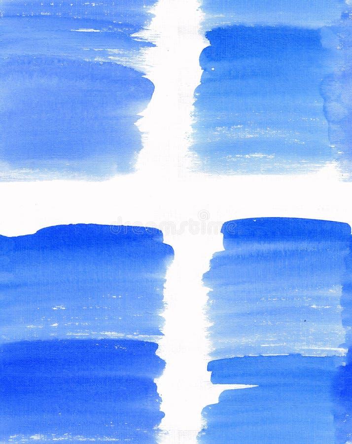 抽象美好的明亮的透明美好的织地不很细夏天蓝色斑点污点样式水彩 库存照片