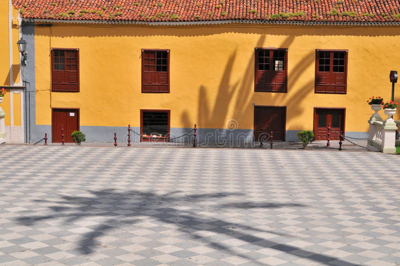 抽象老方形城镇 免版税库存图片