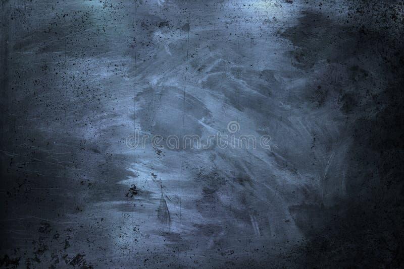 抽象老肮脏的被抓的黑暗的金属纹理 库存照片