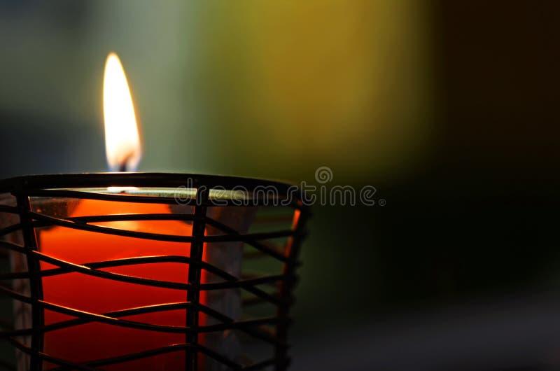 抽象背景一软的蜡烛轻的燃烧 免版税库存照片