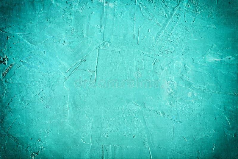抽象背景七高八低的油灰 美好的绿松石颜色,与小插图的空的空间 免版税库存图片