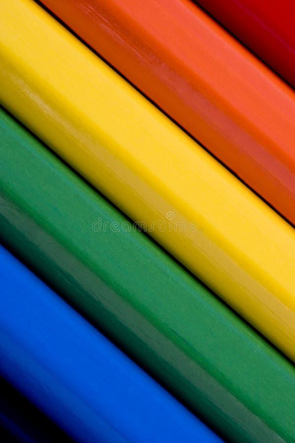 抽象背景上色了五颜六色的铅笔 库存照片