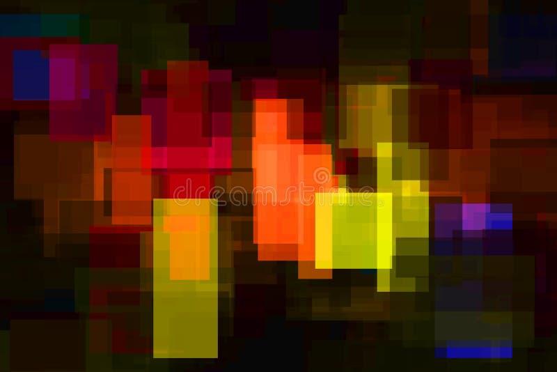 抽象背景上色四个例证向量充满活力 皇族释放例证