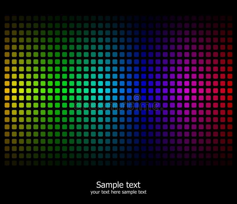 抽象背景上色彩虹 库存例证