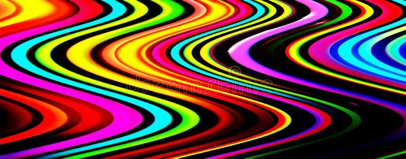 抽象背景上运动的全景发光模糊光条彩虹光LED指示灯未来技术闪烁动态库存例证- 插画包括有led指示灯, 彩虹光: 174127189