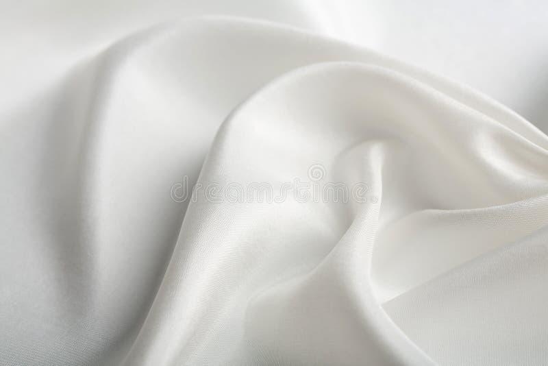 抽象背景丝绸白色 免版税库存照片