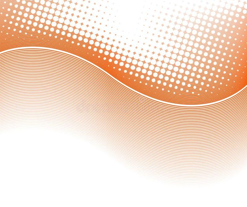 抽象背景中间影调线路 向量例证