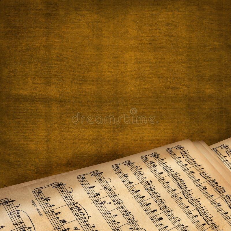 抽象背景书音乐 皇族释放例证