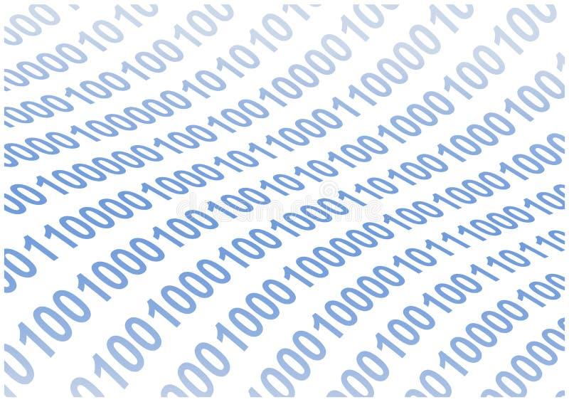 抽象背景二进制代码通知 向量例证