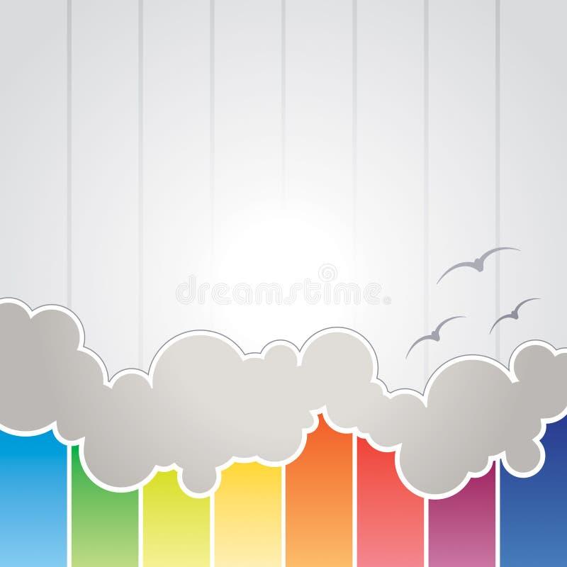 抽象背景云彩 向量例证