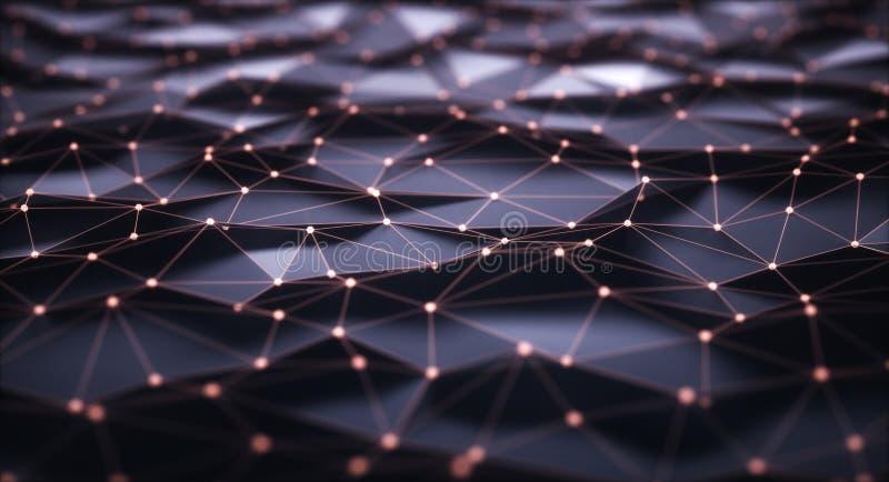 抽象背景互联网连接 皇族释放例证