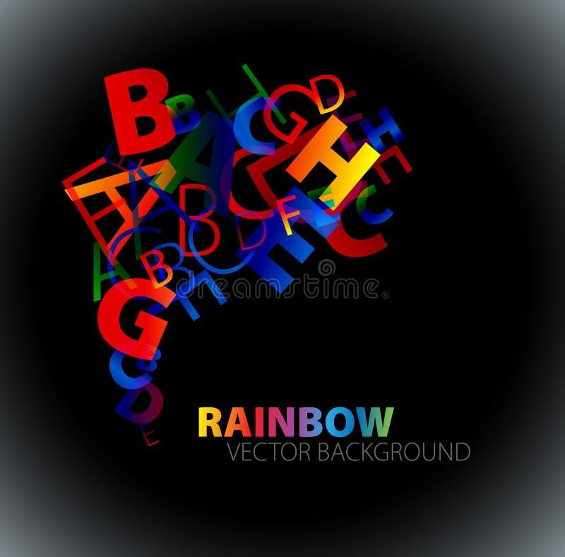 抽象背景五颜六色的信函彩虹 向量例证
