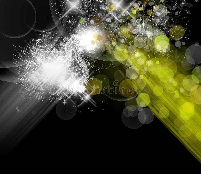 抽象背景五颜六色的光 向量例证