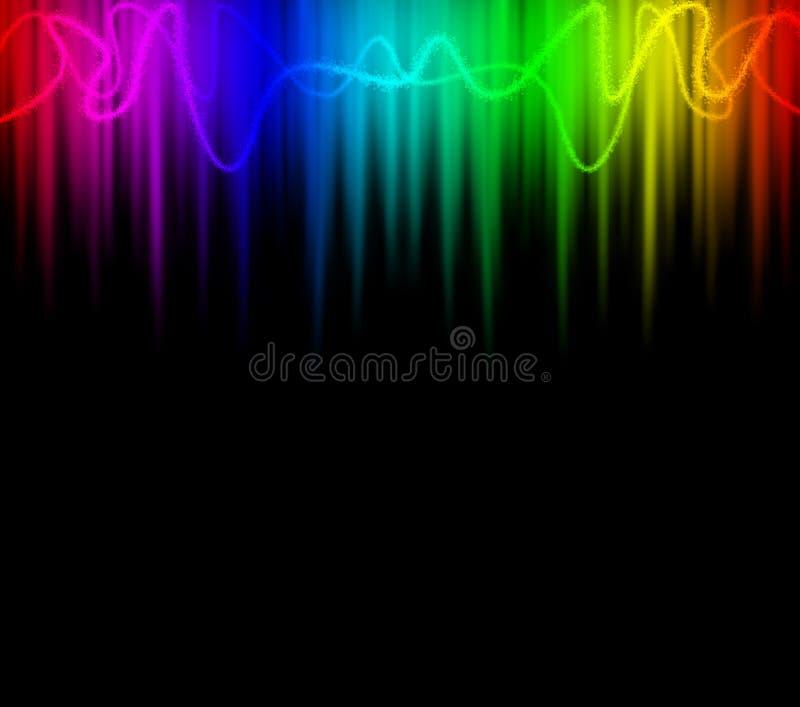 抽象背景五颜六色的光 库存例证