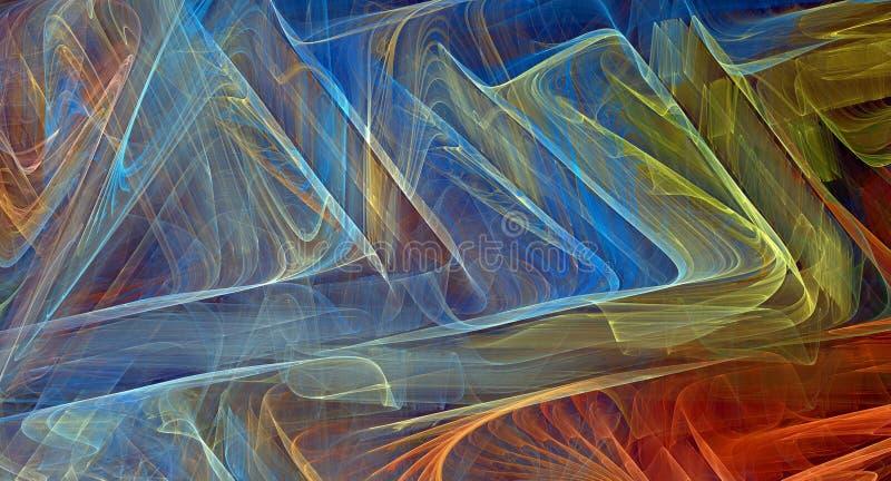 抽象背景五颜六色的分数维 图库摄影