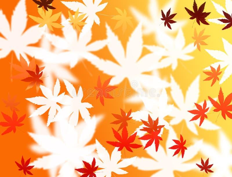 抽象背景五颜六色的叶子 库存例证