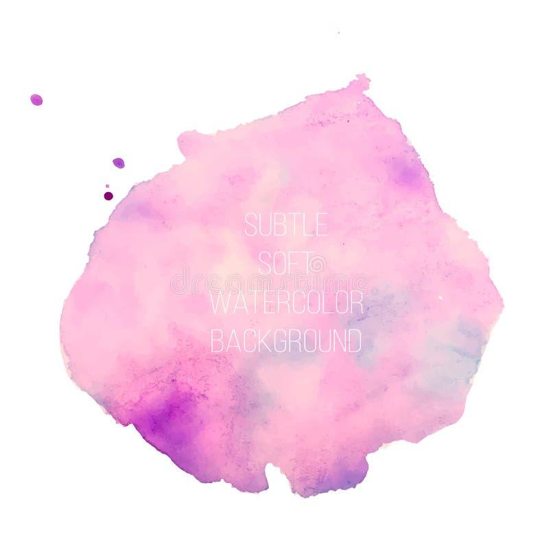 抽象背景五颜六色的向量 软的桃红色水彩污点 多孔黏土更正高绘画photoshop非常质量扫描水彩 向量例证